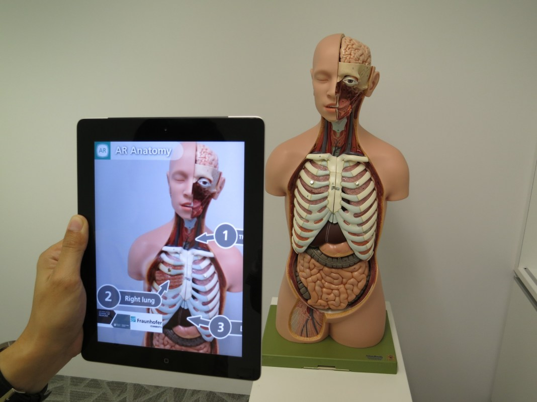 Human body augmented by a device   Aspioneer