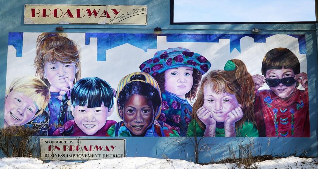A billboard of children on Broadway   Aspioneer