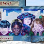 A billboard of children on Broadway | Aspioneer