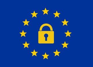 GDPR Logo, Lock and Stars
