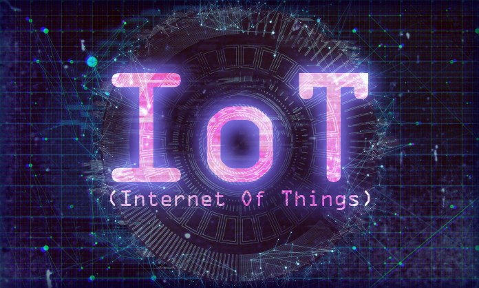 A digital graphic with the words IoT | Aspioneer