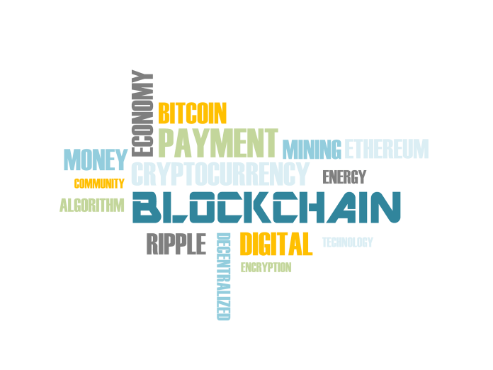 An word cloud of Blockchain | Aspioneer