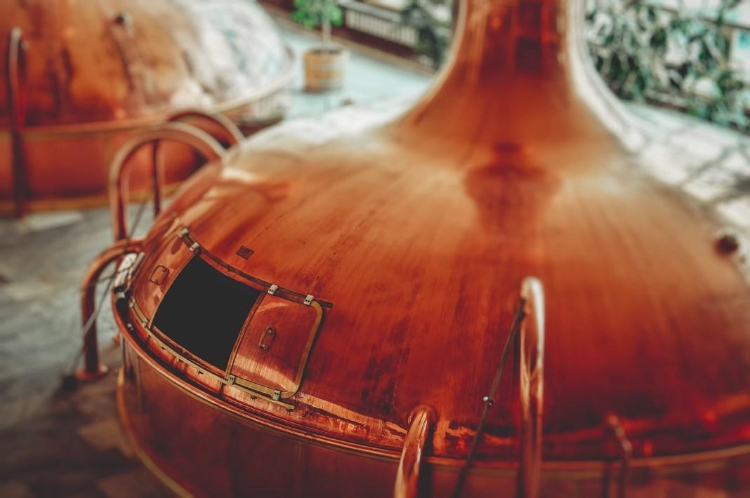 A bronze colored brew