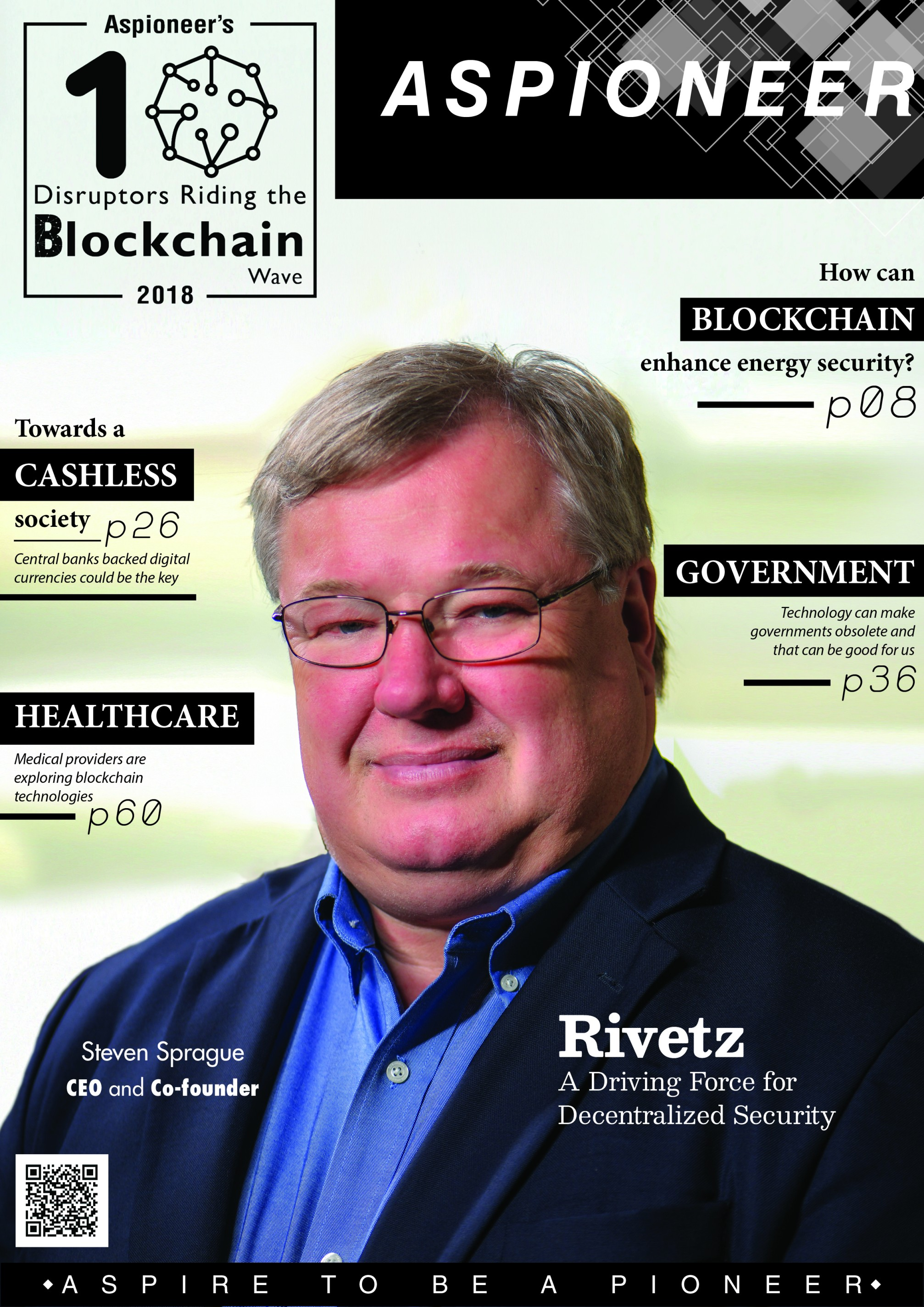 The cover of Aspioneer's Blockchain Issue | Aspioneer