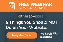 Free Webinar from TherapySites for AspiraCE members