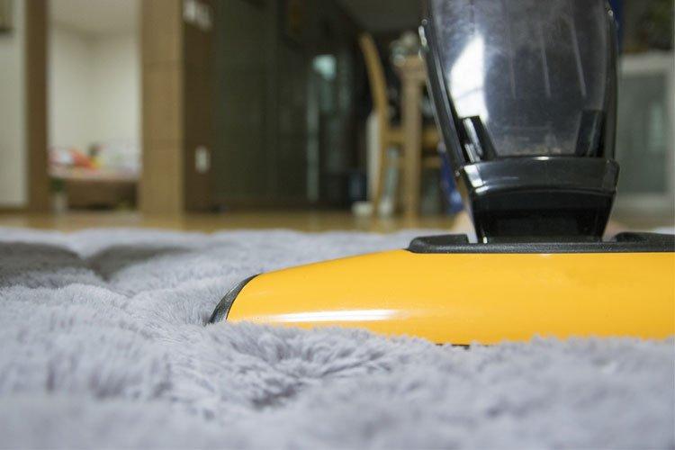 tapis avec un nettoyeur vapeur