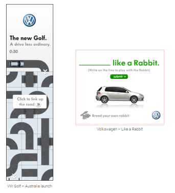 VW sample ads