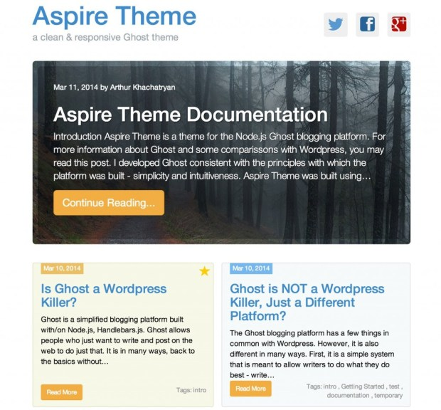 Aspire Ghost Theme Tablet