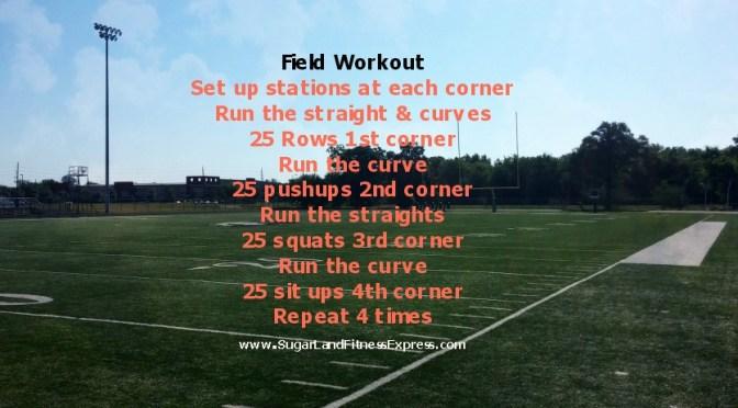 football field workout
