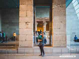 In front of the Temple of Dendur at the Metropolitan Museum of Art - NYC