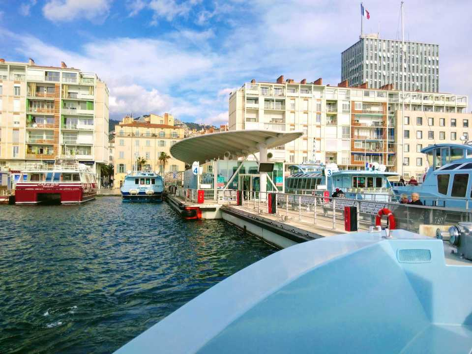 Boats and harbour at Port de Toulon