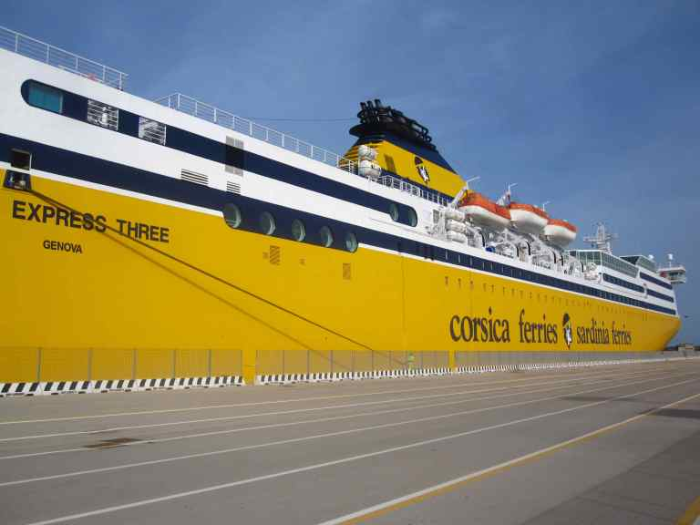large yellow ship