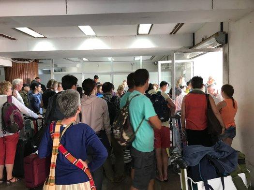 Baggage collection Yangon Domestic Terminal.