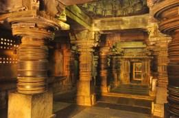 Pillars set in motion in the temple of Somnathpura