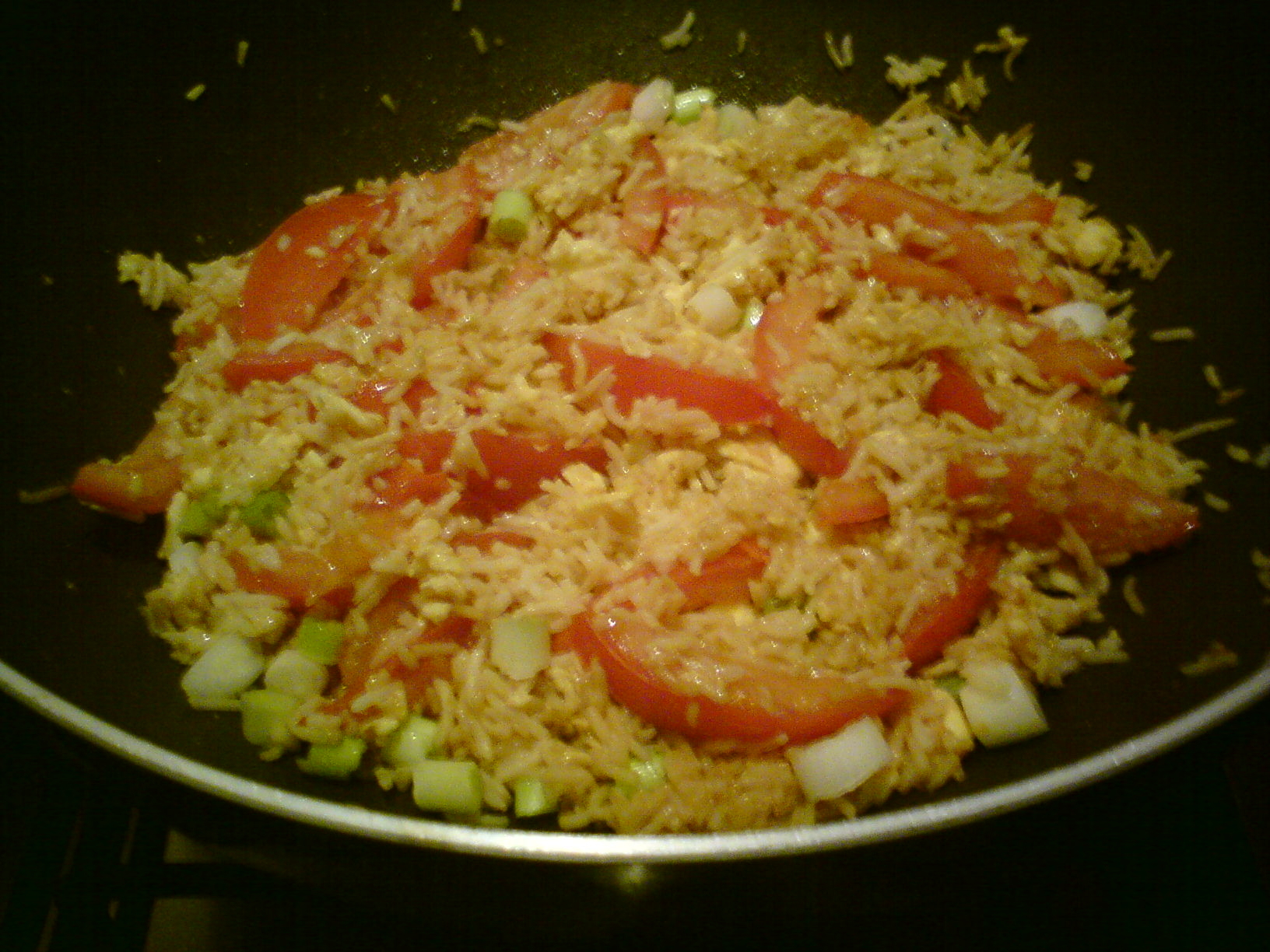 Egg Fried Rice With Tomatoes Home Cooking Home Eating
