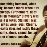 Voting a Uniquely American Dilemma: Legality is not the Talisman of Moral people