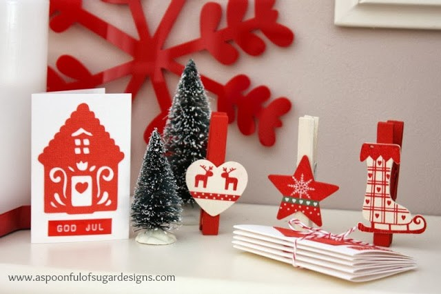 Christmas house gift cards a spoonful of sugar god jul means merry christmas in norwegian swedish and danish we left the inside blank to add our own greeting m4hsunfo
