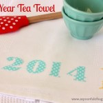 {2014} New Year Tea Towel