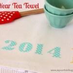 {2014} New Year Tea Towel