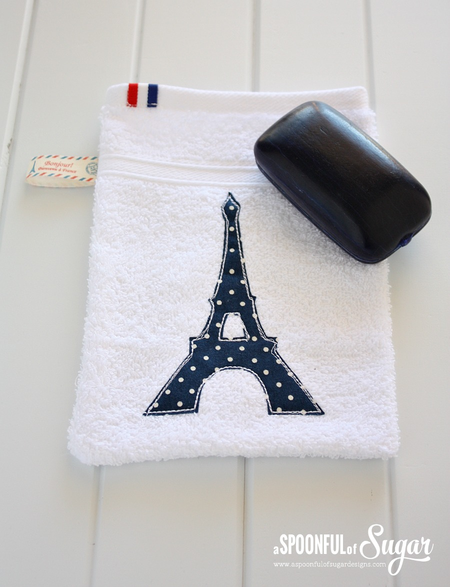 Bath Mitt Eiffel Tower