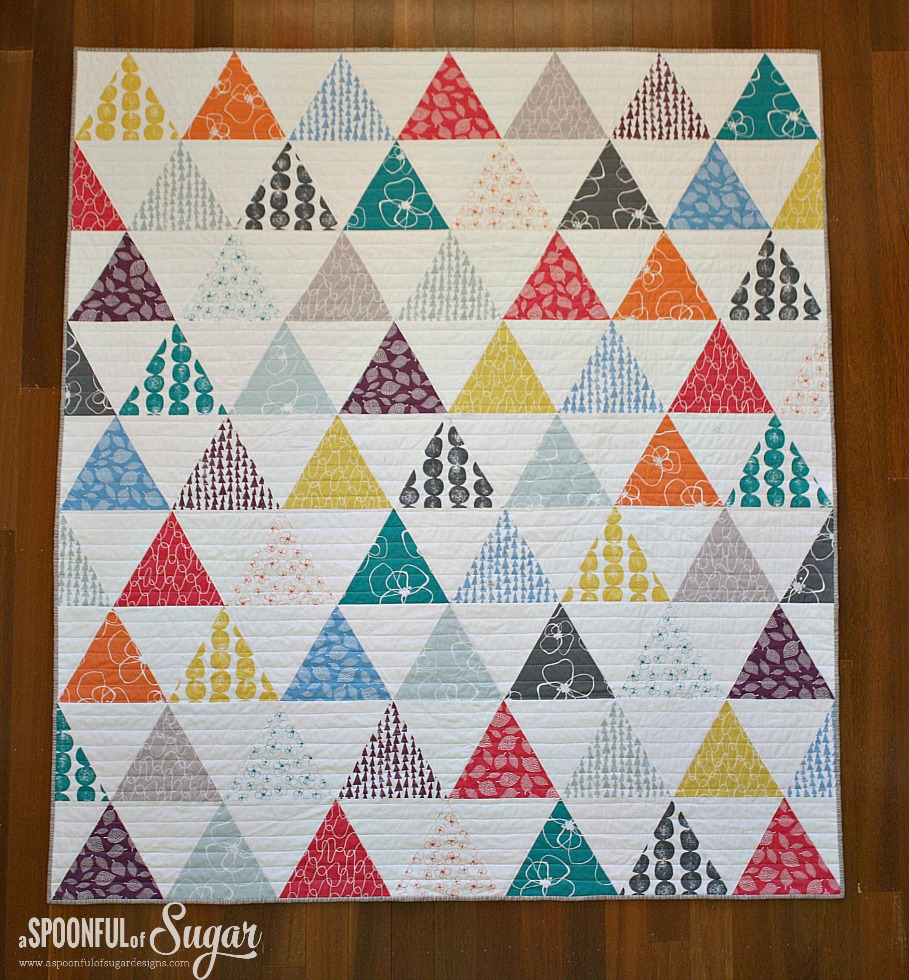 Full view of Mormor Triangle Quilt
