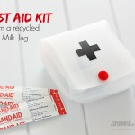 First Aid Kit from a Recycled Milk Jug