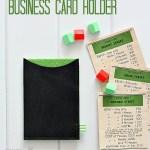 Sew a Business Card Holder