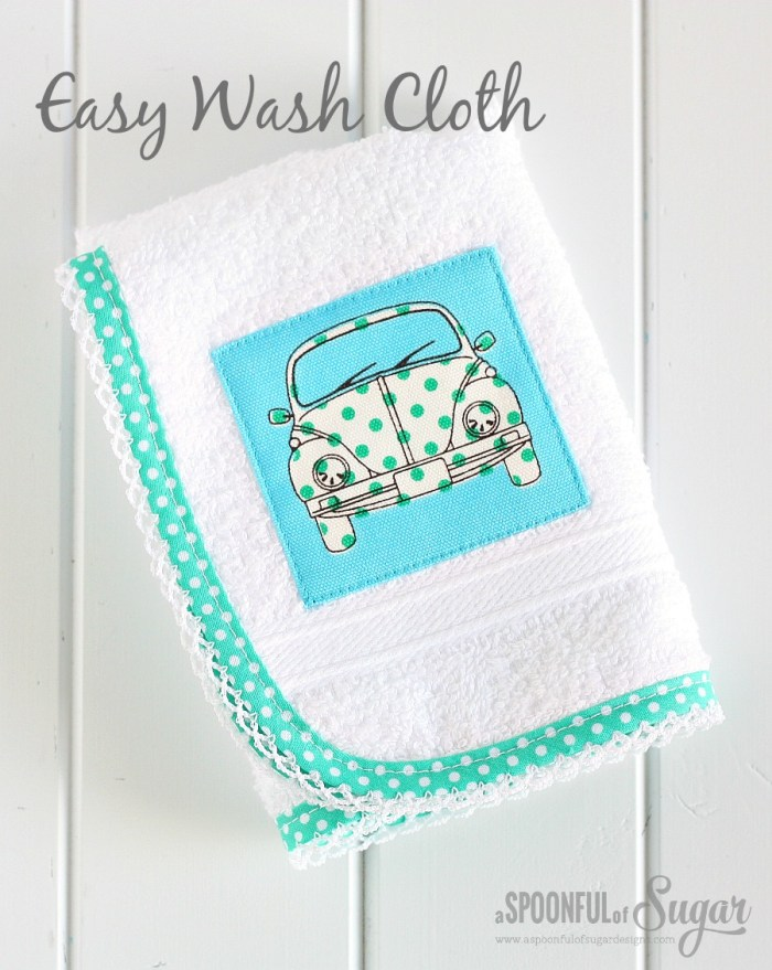 Sew an easy wash cloth for a gift - 30 Minute craft by A Spoonful of Sugar  - Sewtorial