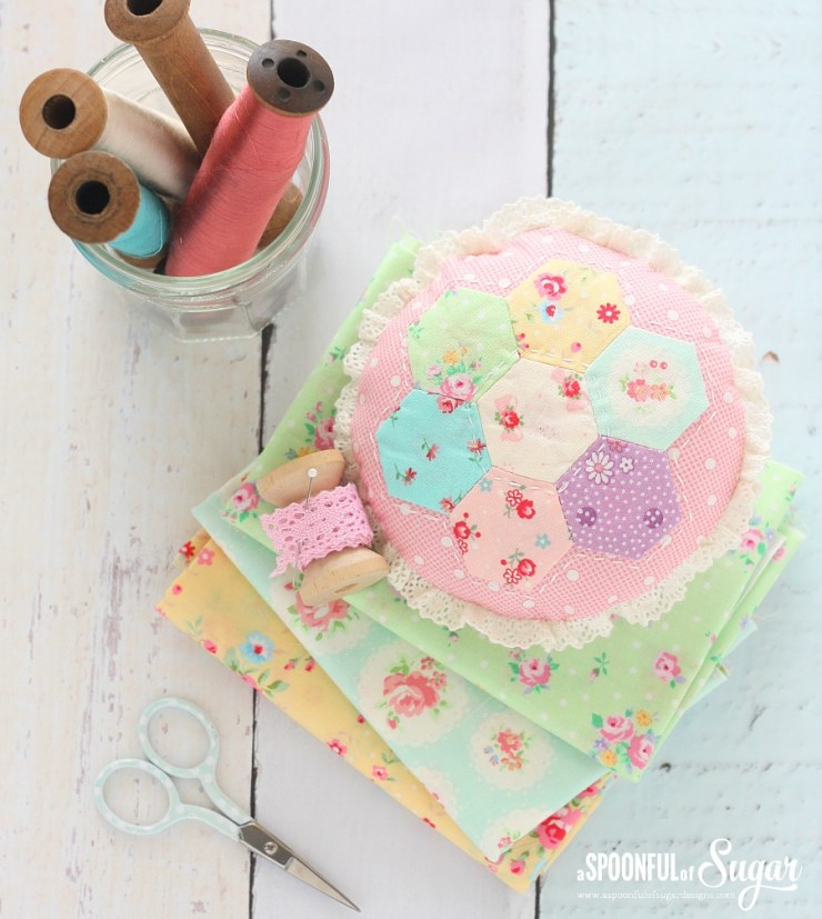 Hexagon Pincushion 3