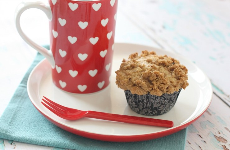Streusel topped muffin