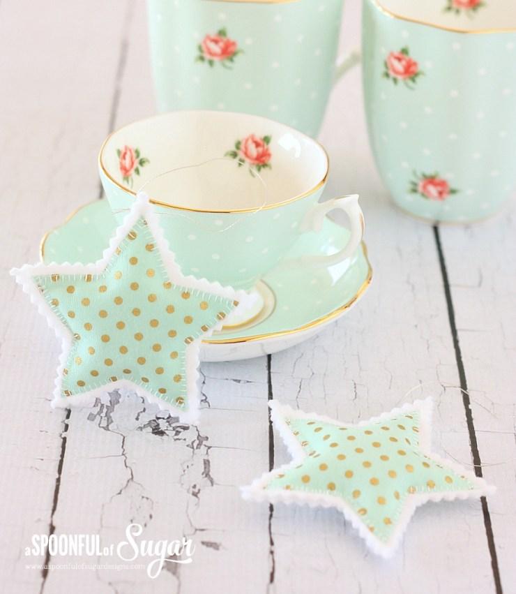 Simple felt and fabric ornaments