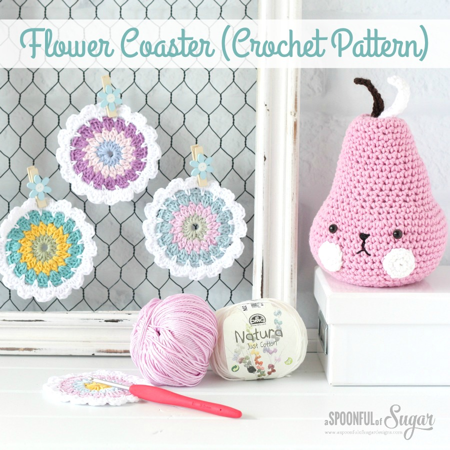 Flower Coaster Crochet Pattern