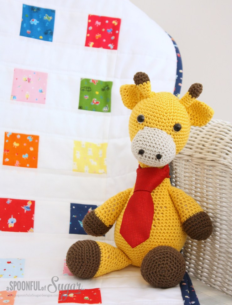 Crayon Box Baby Quilt  (Free Pattern) by A Spoonful of Sugar