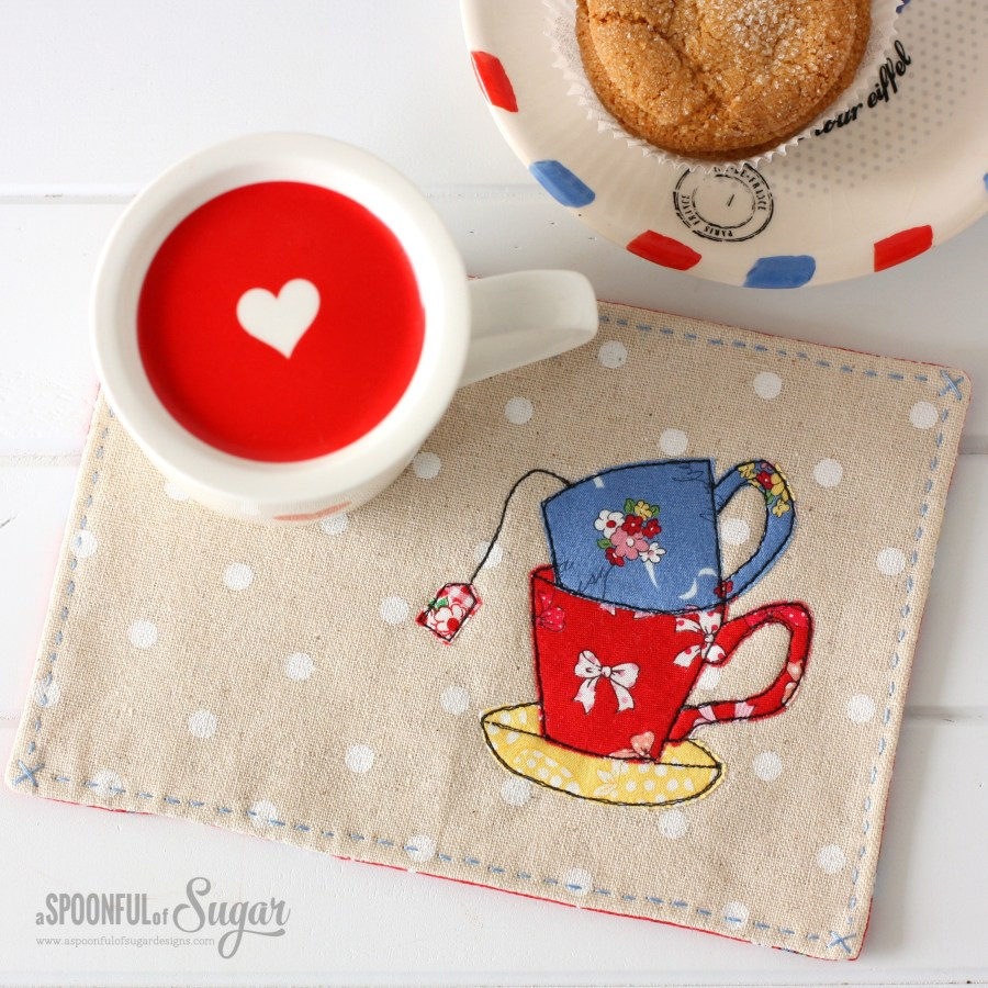 Tea Mat from Sew Illustrated, 35 Charming Fabric and Thread Designs, by Minki Kim and Kristin Esser