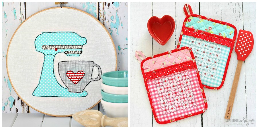 Love to Bake Wall Art, and Gorgeous Gingham Pot Holder from A Spoonful of Sugar.