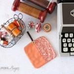 Simple Pumpkin Coasters to Sew