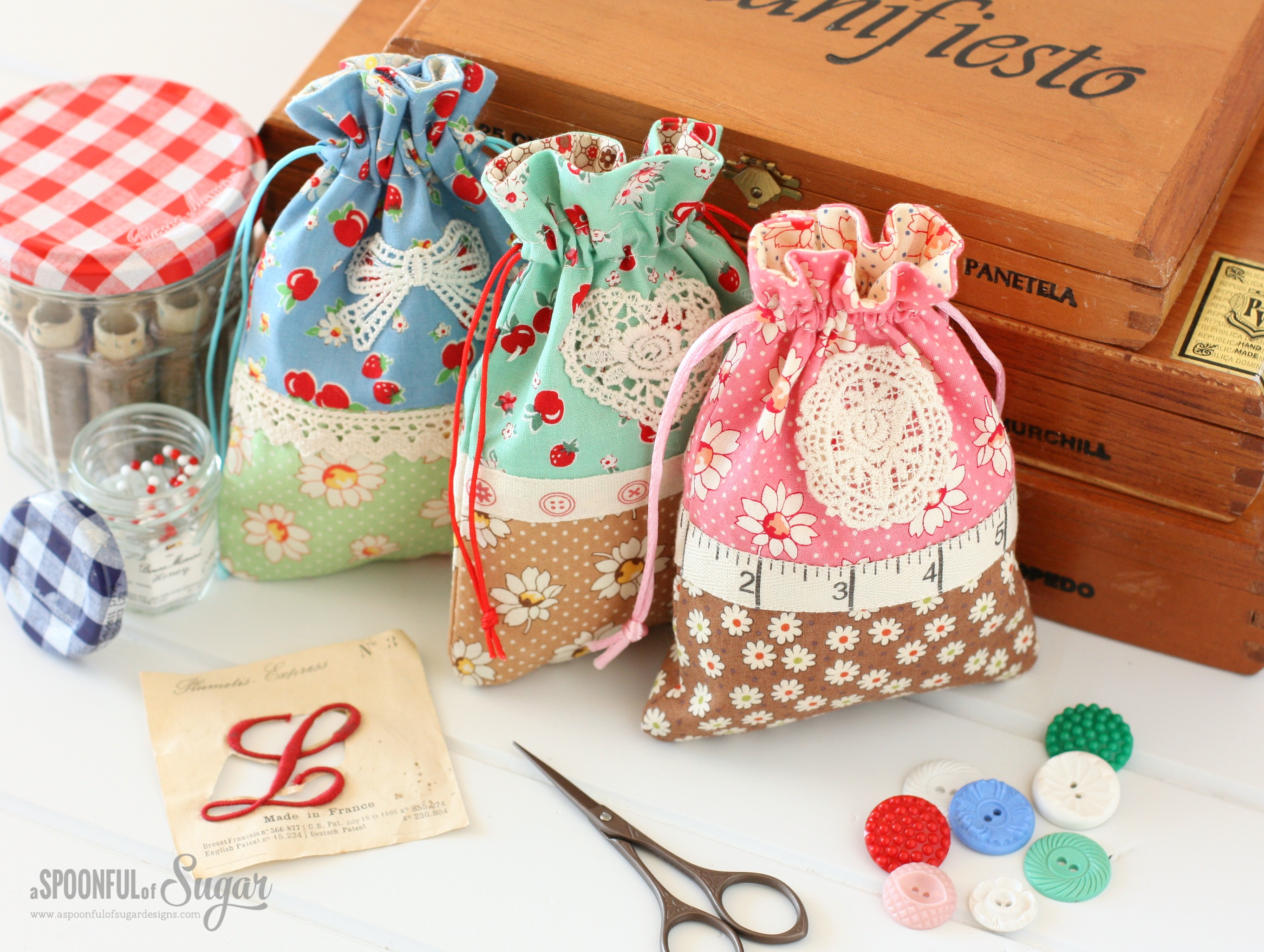 Retro Drawstring Bag - A Spoonful of Sugar