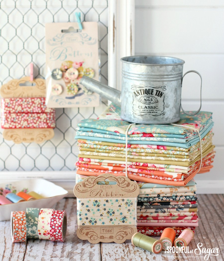 Tilda Memory Lane and Cabbage Roses fabric