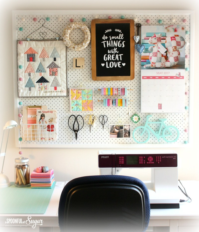 Sewing Room Pegboard