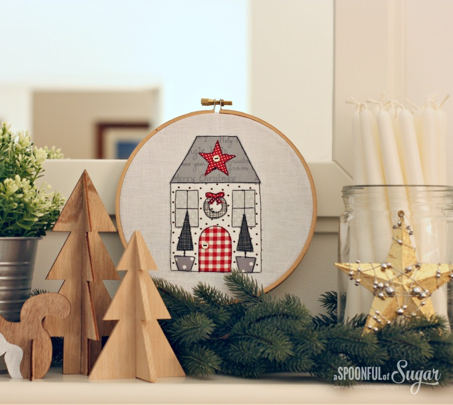 Yuletide Cottages PDF Sewing Pattern by A Spoonful of SUgar