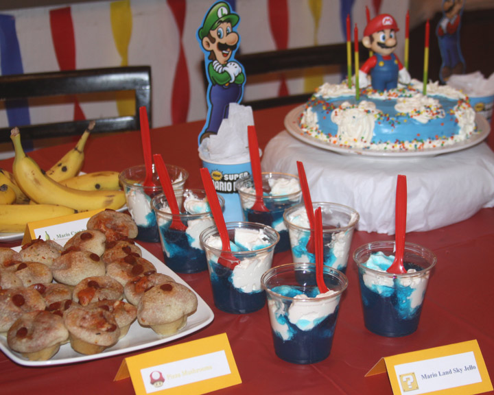 Mario Birthday Party Complete With Mario Themed Food And Games A Spotted Pony
