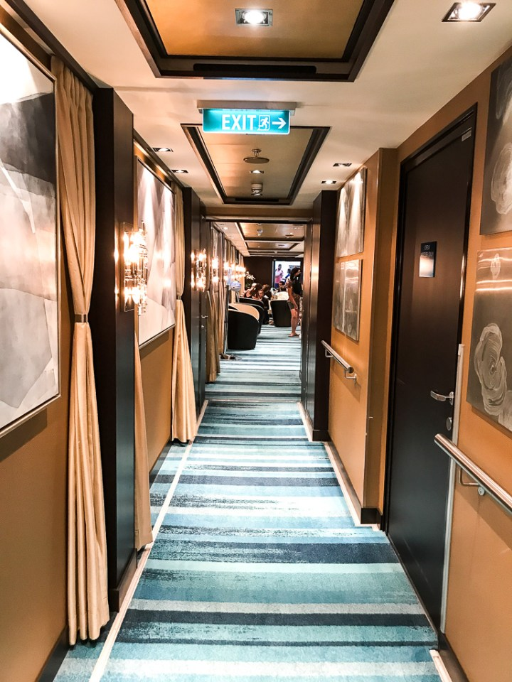 Hallway into the Haven Lounge