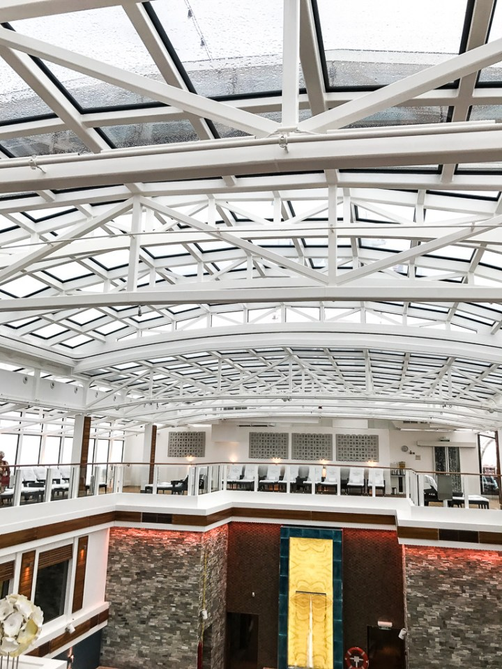 Retractable roof over Haven Courtyard