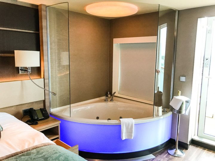 Jacuzzi tub in room in Haven Spa Suite