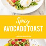 Spicy Avocado Toast Pin Image