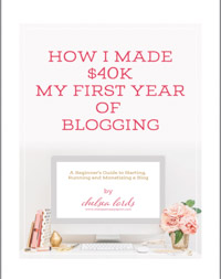 Link to purchase Ebook How I Made $40k My First Year of Blogging