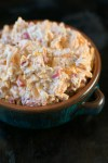 Quick Homemade Southern Pimiento Cheese close up picture   asprinkleandasplash.com
