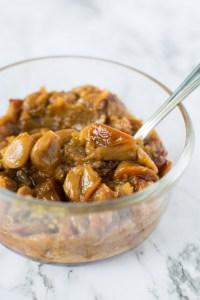 Easy Roasted Garlic Spread in bowl | asprinkleandasplash.com