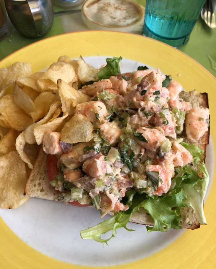 Shrimp Salad sandwich at the Banana Cafe