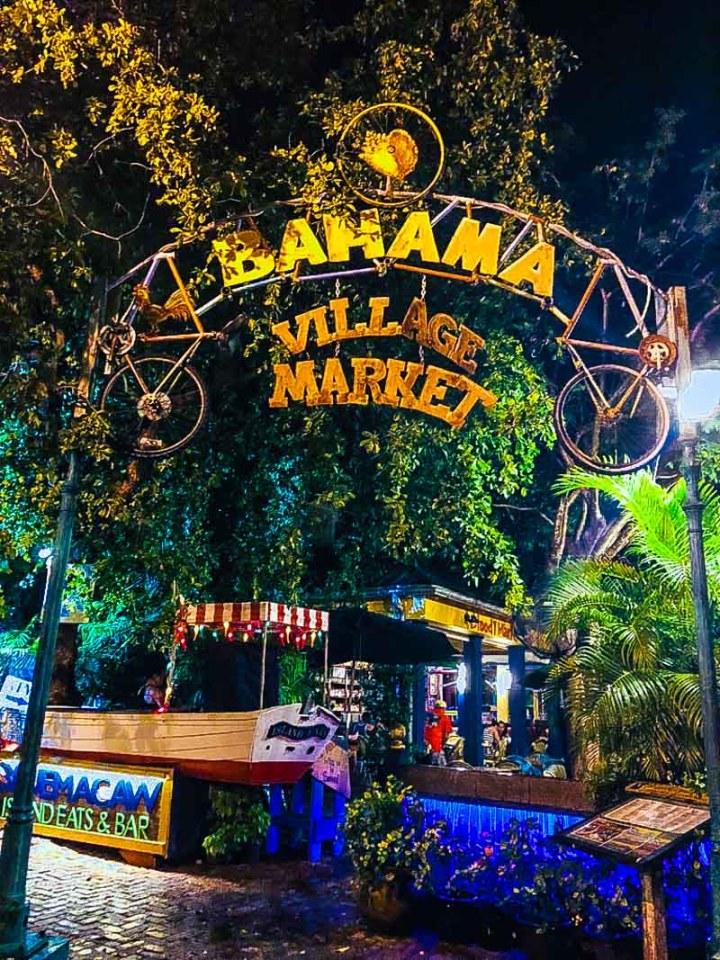Bahama Village Market sign